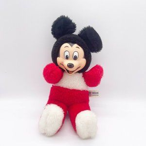 Vintage Rubber Face Mickey Mouse Baby Plush Doll